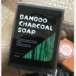 Bamboo charcoal soap (ဝါးမီးသွေးဆပ်ပြာ) Image, classified, Myanmar marketplace, Myanmarkt