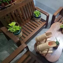 The whole set of table Teak Image, classified, Myanmar marketplace, Myanmarkt